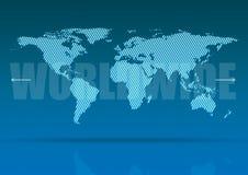 mapa szeroki świat Obrazy Stock