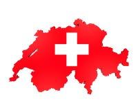 Mapa szwajcar Odizolowywający Fotografia Stock