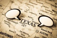 mapa Texas zdjęcie stock