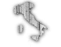 Mapa Textured de Itlay em cores agradáveis Foto de Stock