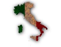 Mapa Textured de Itlay em cores agradáveis Imagem de Stock