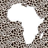 Mapa Textured do vetor de África ilustração stock