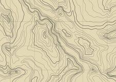 Mapa topográfico abstrato Foto de Stock