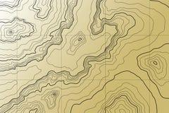 Mapa topográfico abstrato imagem de stock