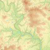 Mapa topográfico coloreado Imagenes de archivo