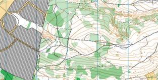 Mapa topográfico del vector abstracto Fotografía de archivo libre de regalías