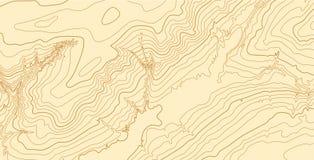 Mapa topográfico del vector abstracto en colores marrones Fotografía de archivo libre de regalías