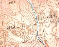 mapa topograficzna Zdjęcia Stock