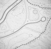 mapa topograficzna Zdjęcie Stock