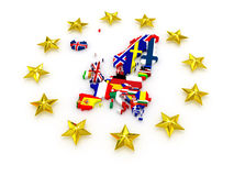 Mapa tridimensional de Europa. Foto de Stock Royalty Free