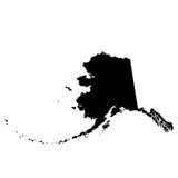 Mapa U S stan Alaska Zdjęcie Royalty Free