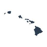 Mapa U S stan Hawaje Obrazy Stock