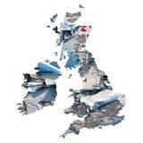 mapa uk Obraz Royalty Free