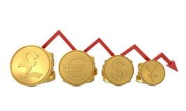 mapa ukuwać nazwę waluty złoty l czerwień symbole ilustracja wektor