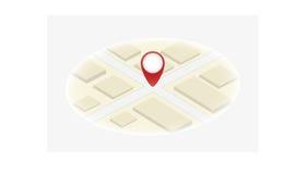 Mapa uno del icono Imágenes de archivo libres de regalías