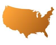 mapa usa royalty ilustracja