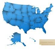 mapa usa Obraz Royalty Free