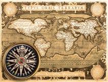 Mapa velho (1587) imagens de stock royalty free