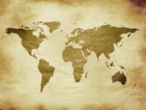 Mapa velho ilustração royalty free