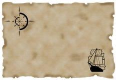 Mapa velho Imagens de Stock Royalty Free