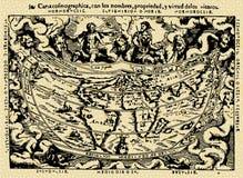 Mapa velho ilustração stock