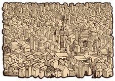 Mapa velho da cidade Foto de Stock Royalty Free