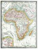 Mapa velho de África. Fotos de Stock