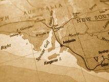 Mapa velho de Austrália Fotografia de Stock Royalty Free
