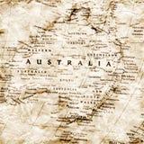 Mapa velho de Austrália Foto de Stock Royalty Free