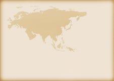 Mapa velho de Europa e de Ásia Foto de Stock Royalty Free