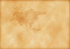 Mapa velho de Europa e de Ásia Fotografia de Stock