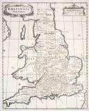 Mapa velho de Grâ Bretanha saxona Imagens de Stock Royalty Free