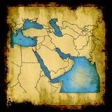 Mapa velho de Médio Oriente fotografia de stock royalty free