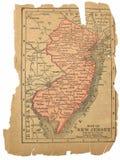Mapa velho de New-jersey Foto de Stock