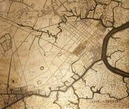 Mapa velho de Saigon Foto de Stock Royalty Free