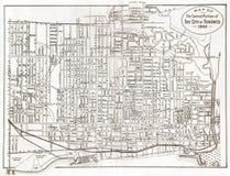 Mapa velho de Toronto Foto de Stock Royalty Free