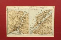 Mapa velho de Turquia Imagens de Stock Royalty Free
