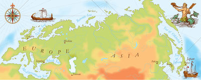 Mapa velho de viquingues da marinha imagens de stock