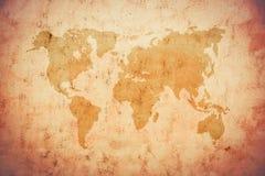 Mapa velho do mundo Imagem de Stock Royalty Free
