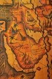 Mapa velho do sepia Fotos de Stock Royalty Free