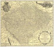 Mapa velho dos Mullers de Boémia de Fotos de Stock