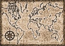Mapa velho gerado por computador Fotografia de Stock Royalty Free