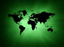 Mapa verde Fotos de Stock