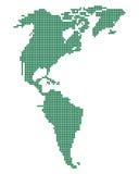 Mapa verde de América. Imagenes de archivo
