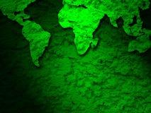 Mapa verde de la tierra del grunge en 2 verdes Imágenes de archivo libres de regalías