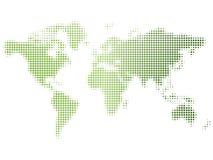 Mapa verde doted brilhante Ilustração do Vetor