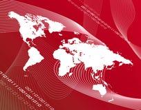 Mapa vermelho Imagens de Stock