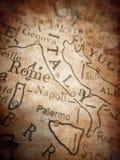 Mapa viejo de Italia Foto de archivo libre de regalías