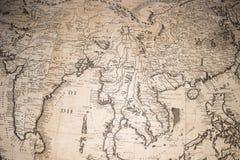 Mapa viejo del globo de la tierra de la antigüedad del vintage fotografía de archivo