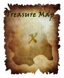 Mapa viejo del tesoro Fotografía de archivo libre de regalías
